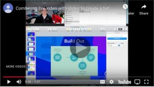 Screencast of making video with slides