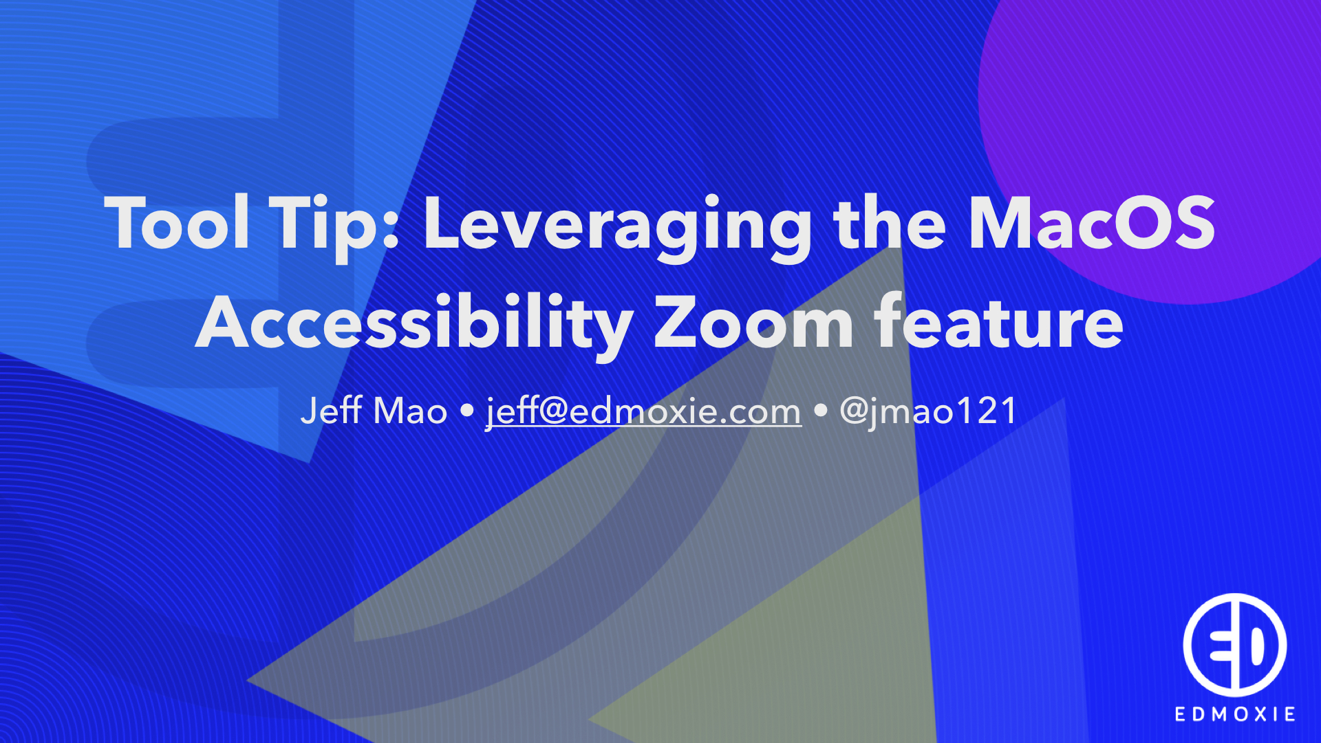 Tool Tips: Screen Zoom for Media Creation